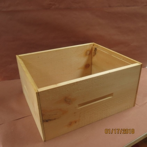 Deep Wooden Box Assembled (Rabbet Joints)